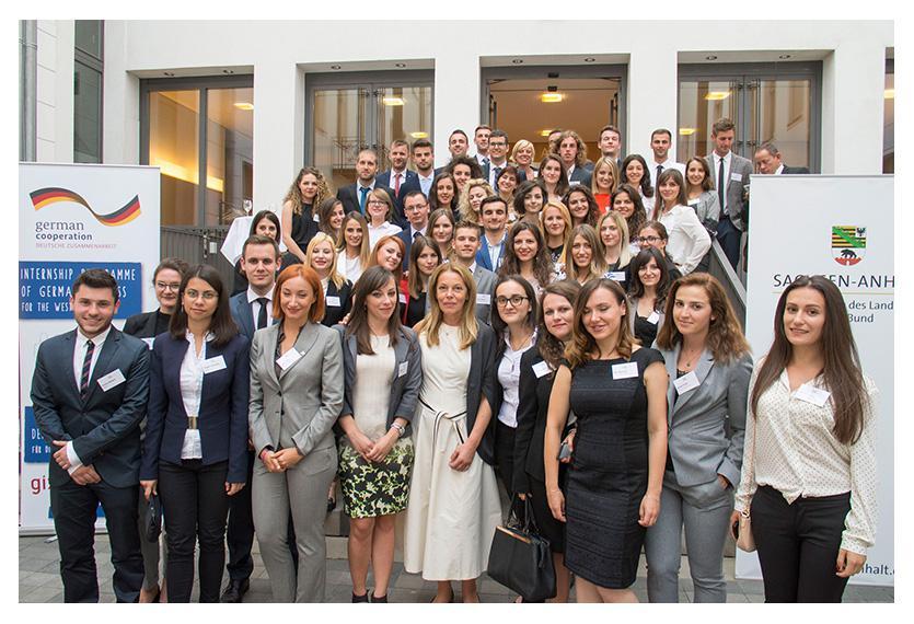 Die 57 Stipendiaten absolvieren seit Anfang Juli ihre Praktika in deutschen Unternehmen. Foto: J. Scheer