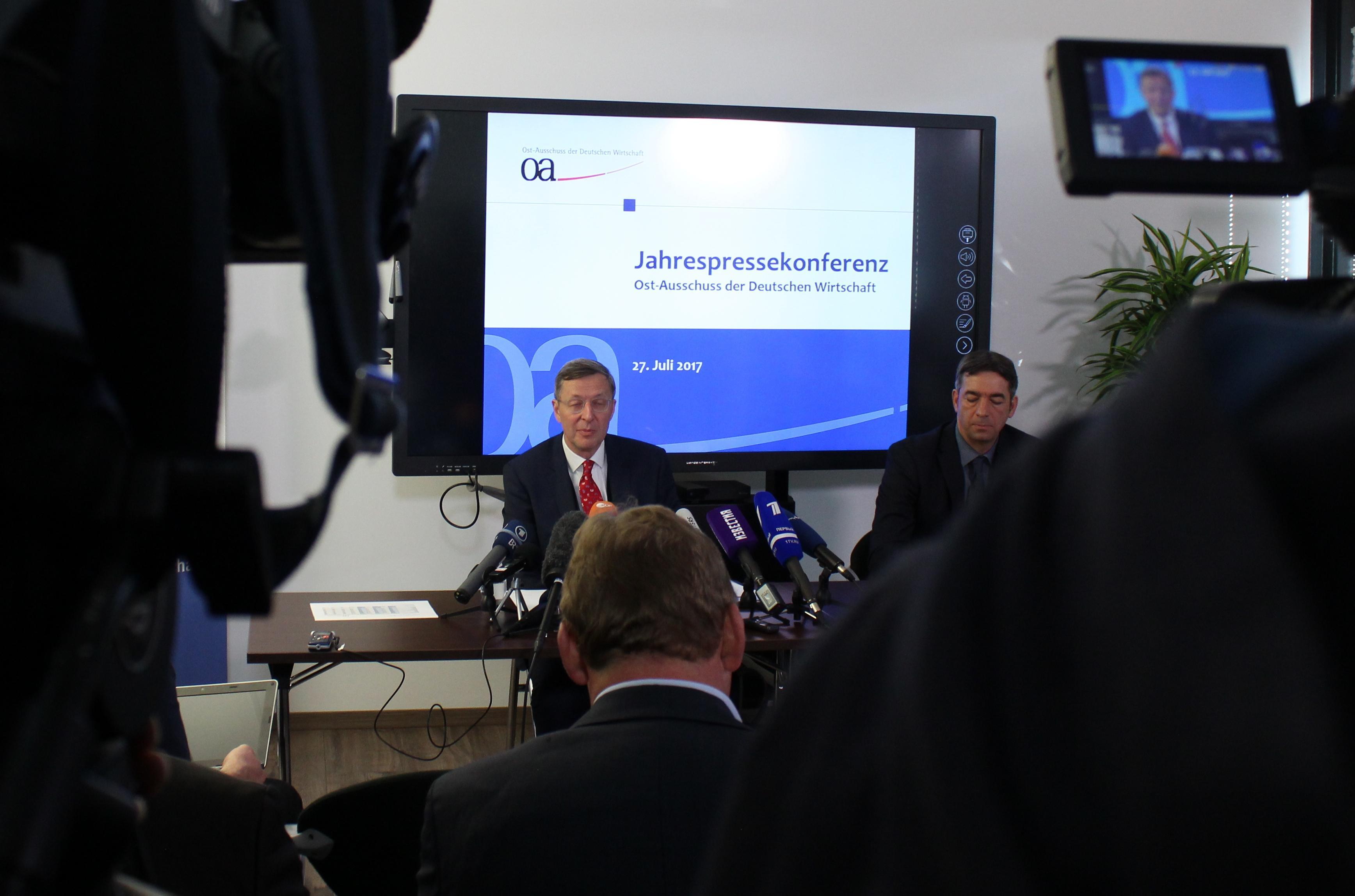 Jahrespressekonferenz des Ost-Ausschusses der Deutschen Wirtschaft